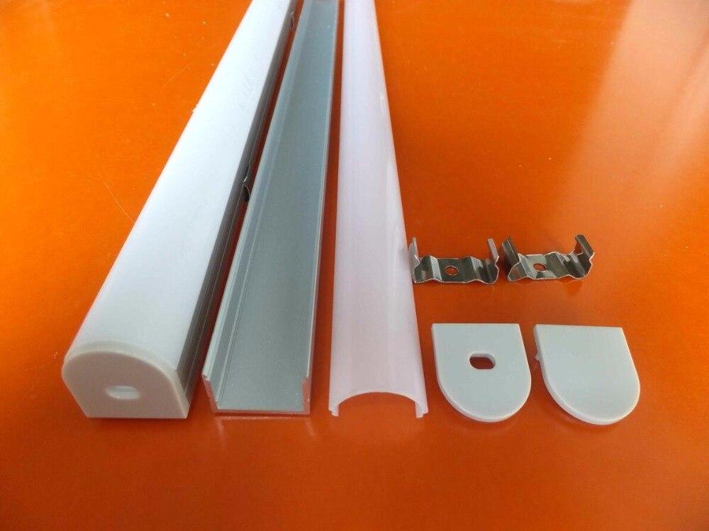 Envío Gratis canal de aluminio de alta calidad con tapa y tapas y clips