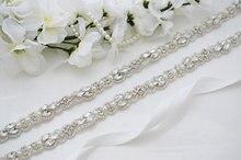 MissRDress robe de mariée ceinture ceinture de mariée cristal perlé à la main ceinture de mariage strass pour robes de soirée ceinture de mariée JK883
