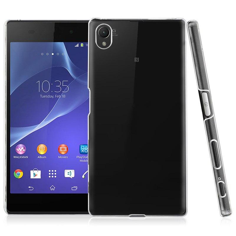 Cubierta trasera transparente Ultra delgada, resistente a la suciedad, de plástico transparente y cristal para Sony Xperia Z5 Plus Z5 + E6833 E6853 E6883