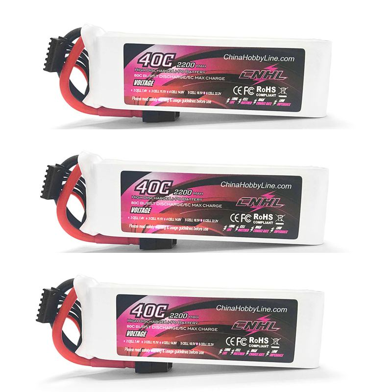 1 /2 /3 PCS CNHL 2200mAh 5S 18.5V 40C Lipo Battery XT60 Plug for RC Drone FPV Racing RC Remote Control Toys Spare Parts