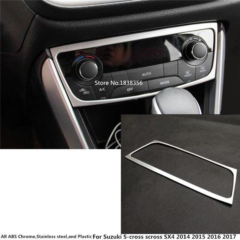Para Suzuki s-cross SX4 2014 2015 2016 coche ABS cromo consola temperatura aire acondicionado interruptor de volumen molduras de Marcos panel de lámpara 1 Uds