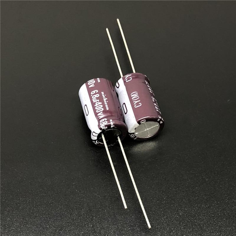 10Pcs/100Pcs 6.8uF 400V NICHICON CY Series 10x16mm High Ripple Current Long Life 400V6.8uF Aluminum Electrolytic capacitor
