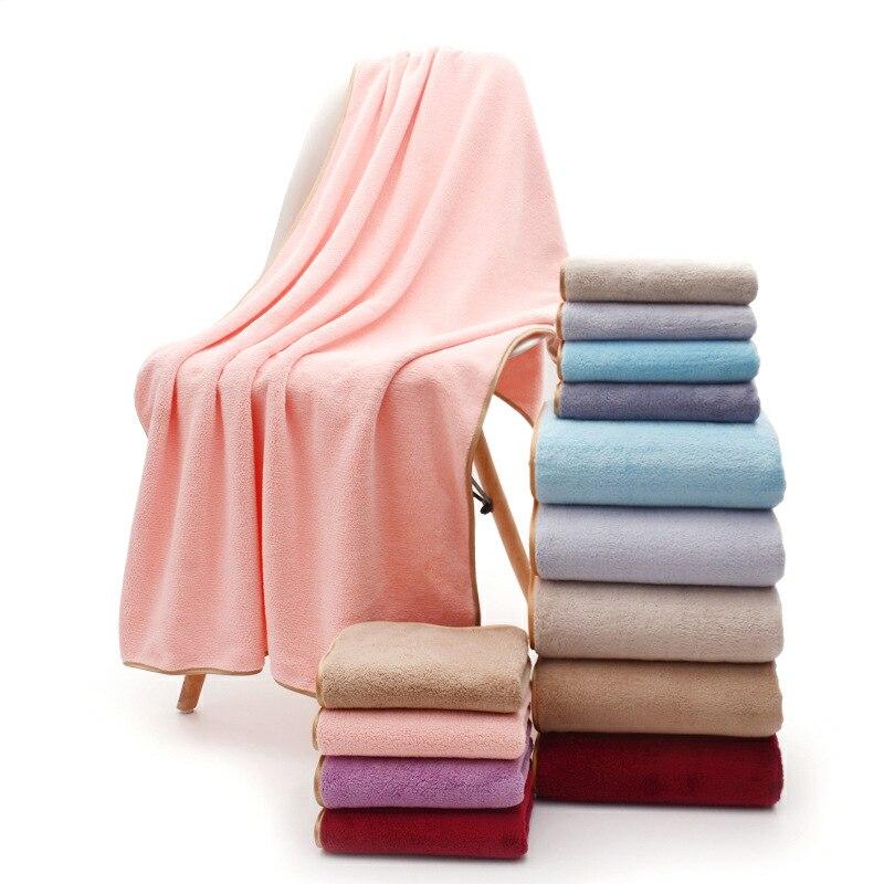 1pc Planície afiação toalha de banho toalhas de Praia toalhas de veludo Coral 140*70cm
