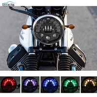 motor 5 75 inch headlight rgb ring led projection hilo beam headlight for motorcycles