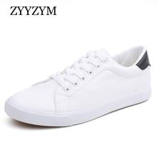 ZYYZYM hommes chaussures printemps été PU cuir chaussures hommes à lacets avec Style léger respirant mode baskets hommes vulcanisé chaussure
