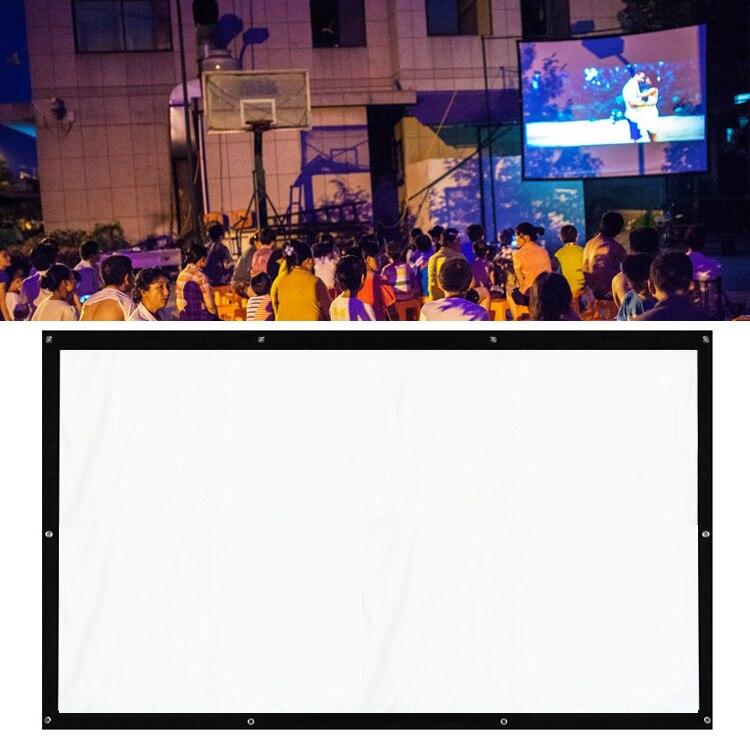 Pantallas para proyector de cine curvado blanco 43, de 120 pulgadas, para LCD LED, DLP, HD, 3D proyector de películas, Cortinas proyector Scherm Cortinas