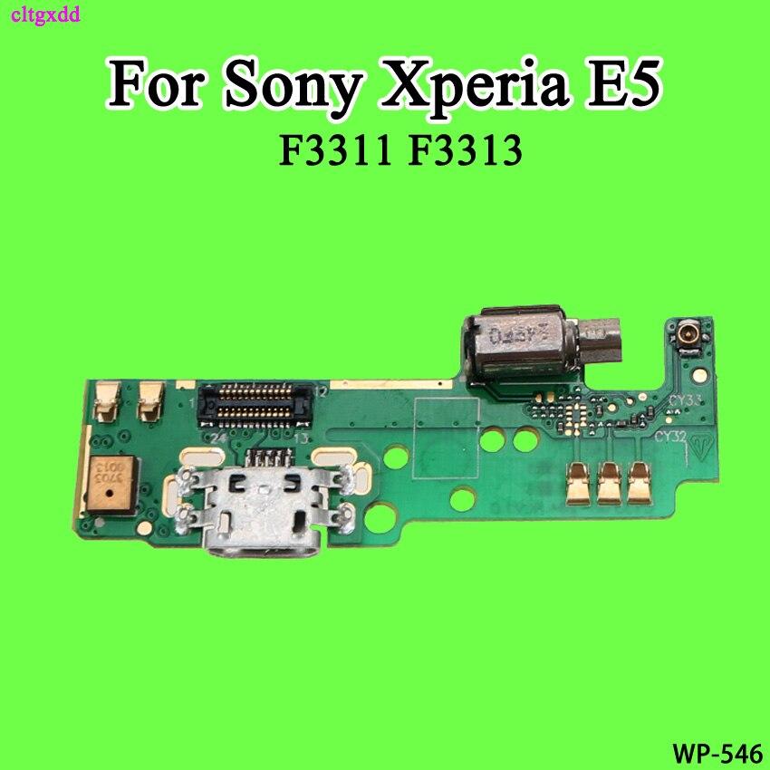 Para Sony Xperia E5 f3311 f3313 puerto de carga USB enchufe conector Conector vibrador con carga placa con micrófono Flex Cable partes