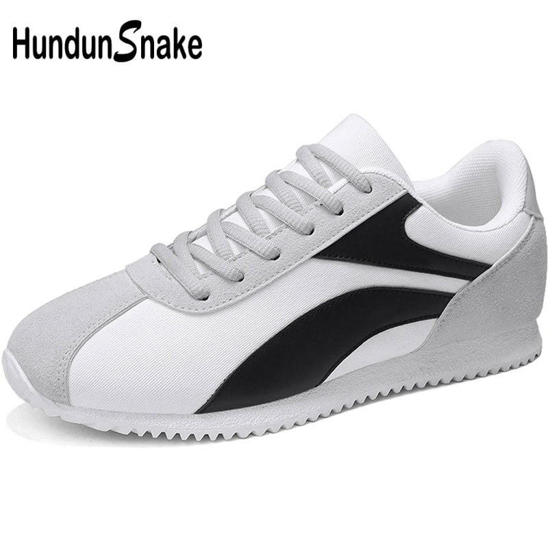 Hundunsnake Grey Men's Canvas Sneakers Men Lightweight Running Shoes For Men Sport Shoes Men 2018 Male Sports Shoes Adult T611