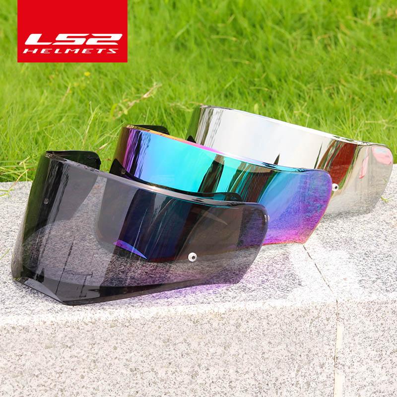Visera Original LS2 FF390 para casco transparente/humo oscuro/plata/arcoíris solo para lentes de cascos LS2 Breaker con pin pinlock