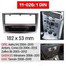 1 din Radio samochodowe stereo montaż instalacja konsoli do OPEL Astra 2004-2010 Stereo rama blendy Panel deski rozdzielczej DVD CD Dash Bezel