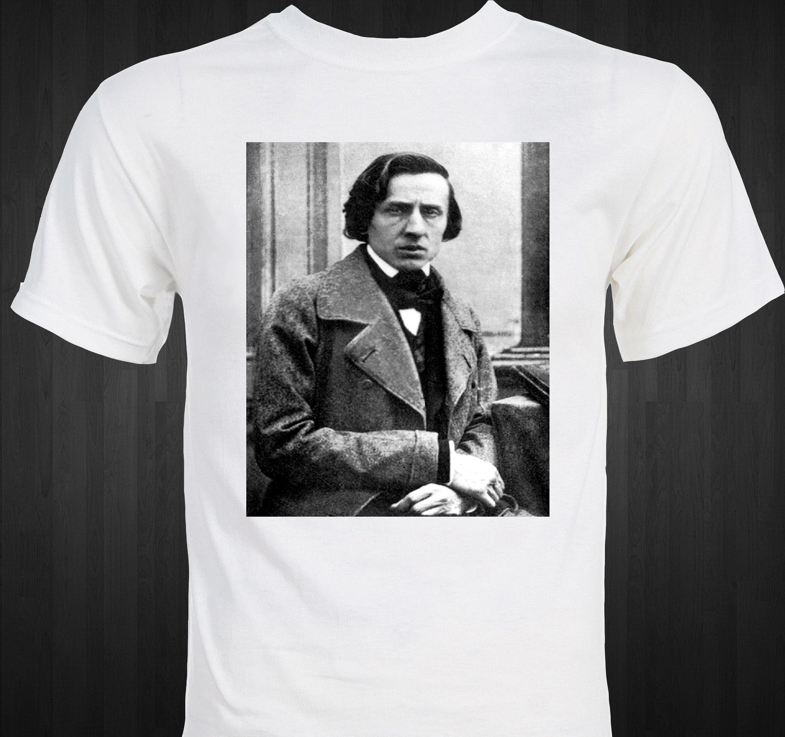 Verano 2019 algodón de 100% Normal Chopin-Frederic Chopin-clásico Composer-pianista Piano Musical t-shirtcrossfit camiseta