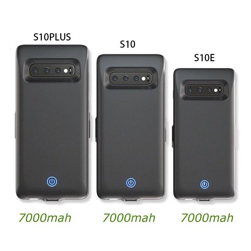 جراب شاحن بطارية سريع لهاتف Samsung Galaxy S10 S10e S10 plus ، جراب Powerbank مع مشبك خلفي لهاتف Samsung S10 S10e