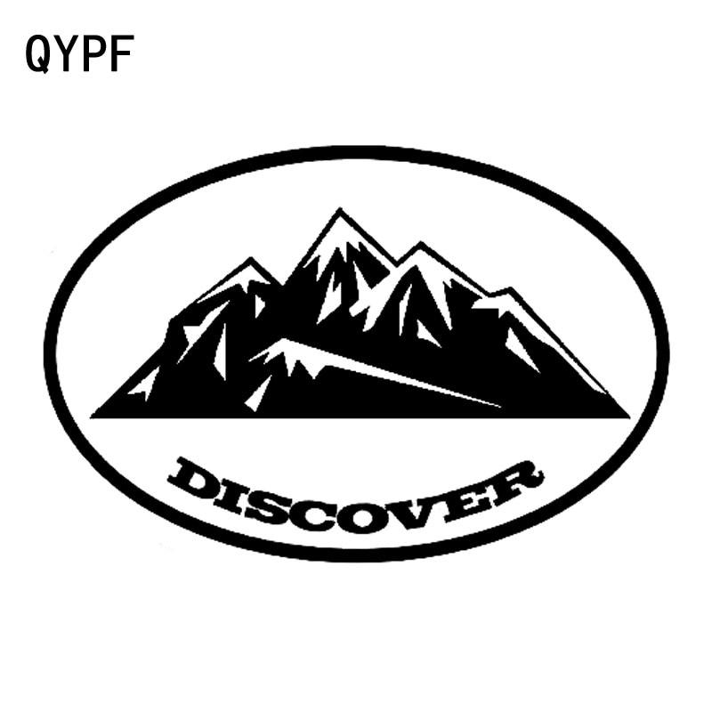 QYPF 17,9 cm * 12cm desde descubrir montañas maravilloso interesante vinilo calcomanía para ventana de automóvil calcomanía C18-0317