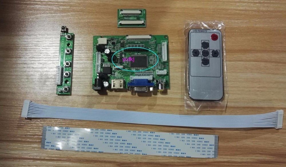 HDMI VGA Placa Controladora 2AV TTL LVDS para CHIMEI INNOLUX HE080IA-01D 8inch1024x768 IPS HJ080IA-01E TFT LCD Do Painel de Display LCD t