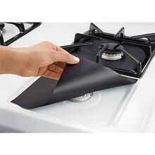 IVYSHION 2/4Pcs Glass Fiber Gas Stove Protectors Stovetop Burner Reusable Stove Covers Non Stick Mat Pad Dishwasher Kitchen Tool