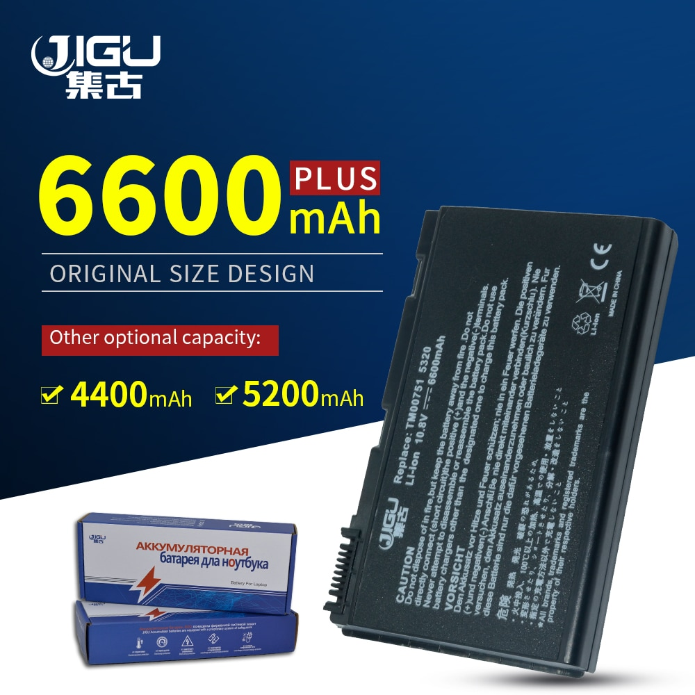 JIGU-Batería de portátil de 6 celdas, TM00741, TM00742, LC.BTP00.005, para Acer Extensa...