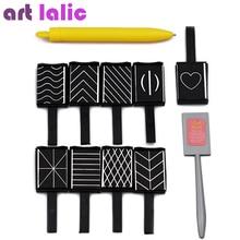 11 teile/los 3D Magnet Stick Cat Eye Magnetische Stift für Nägel Zeichnung Nail art Stick Für Nagel Gel Polnisch Magische nagel Werkzeuge