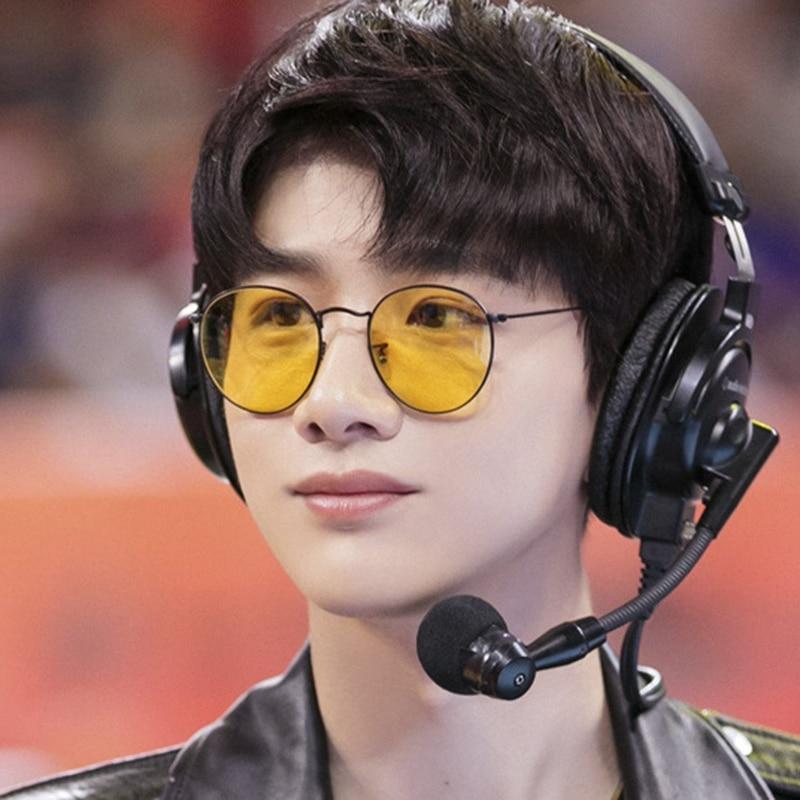 Small Round Women Sunglasses Men 2019 Aviation Eye Sun Glasses Metal Frame Ocean Color Pink Shades f