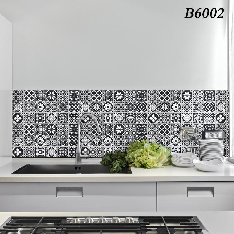 Kitchen Wallpaper High Temperature Paste Self-Adhesive wall paper Foil Waterproof Bathroom Kitchen Wall Sticker Home Decor