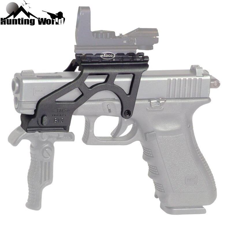Тактический легкий полимерный фонарик с креплением с Пикатинни Для Пистолетов Glock 17 19 20 21 22 23 34 Gen 3 & 4