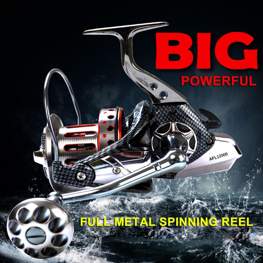 8000 9000 10000 12000 Series 10+1BB Ball Bearings 4.71 Spinning Fishing Reel Tackle Spool Handle Reels Fishing Tackle Pesca