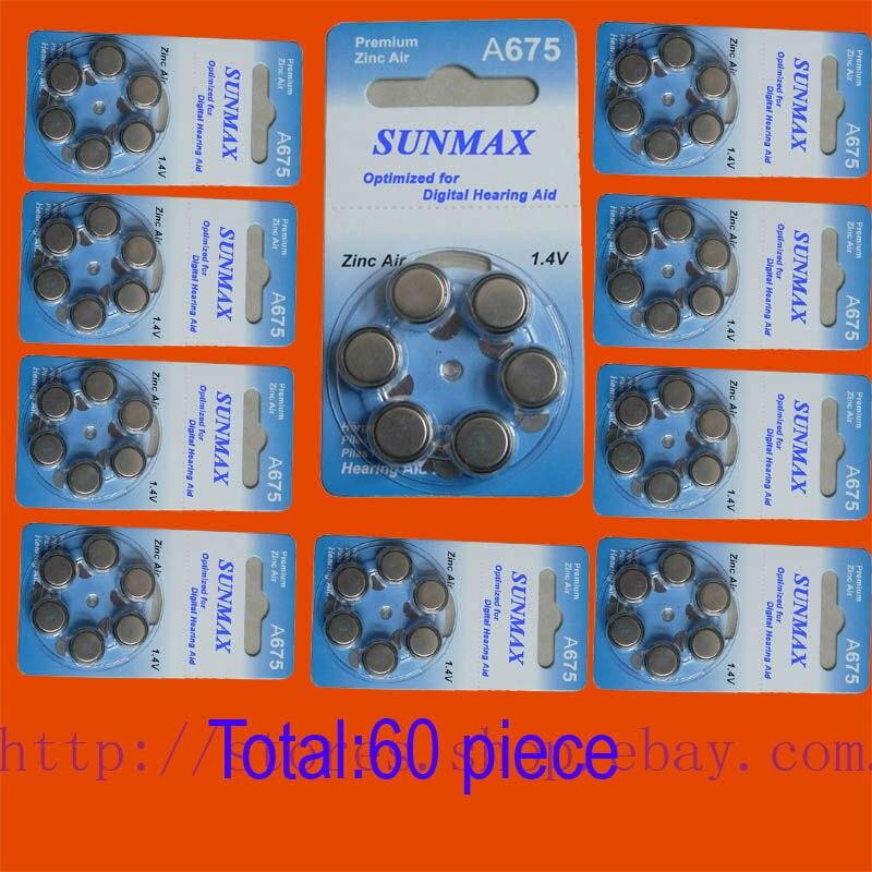 Nuevo 60x audiencia ayuda A675 675A ZA675 675 PR44 batería