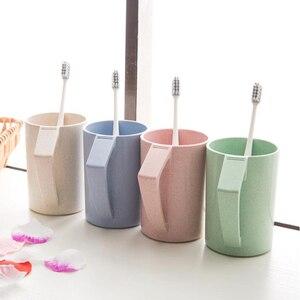 Скандинавские пластиковые чайные чашки с ручкой, Экологичная чашка из пшеничной соломы, чашка для кофе, чая, молока, напитков, чашка для зубн...
