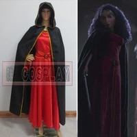 custom made anime movie mother gotheld cosplay costume wine red dress with cloak
