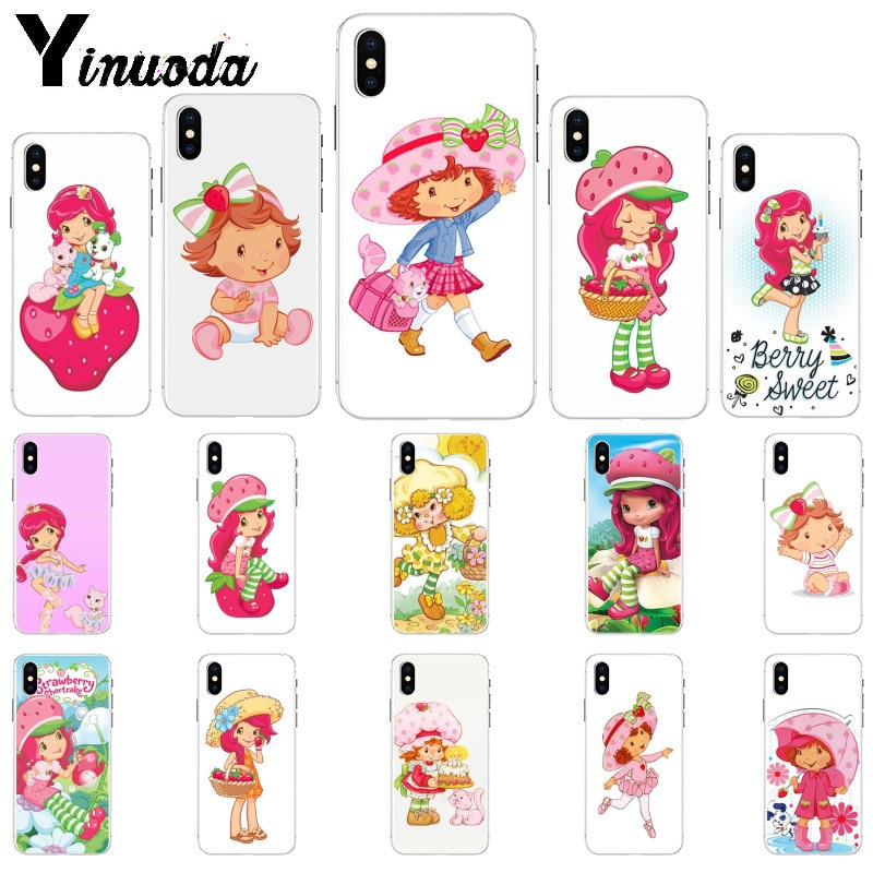 Funda de móvil Yinuoda de dibujos animados de fresa para iPhone 8 7 6 6S Plus 5 5S SE XR X XS MAX 11 11pro 11promax