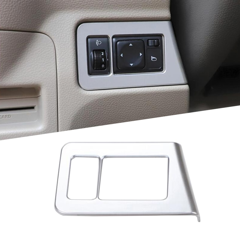 For Nissan NV200 Evalia 2010 - 2018 Chrome Headlight Fog Light Lamp Adjust Button Instrument Switch Panel Cover Trim Bezel