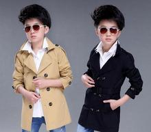 2018 spring and autumn childrens coat, big boy, Korean version, boys windbreaker coat, long coat, childrens wear boy clothing