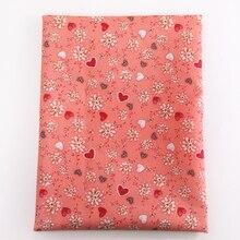 Давид аксессуары 50*145 см сердце день Святого Валентина пэчворк 100% полиэстер ткань для ткань дом текстиль для шитья куклы, c3210