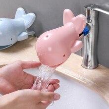 Ballena de grifo de niño bebé niños Caño divertido lavado a mano delfín lavabo baño fregadero de la cocina extensor