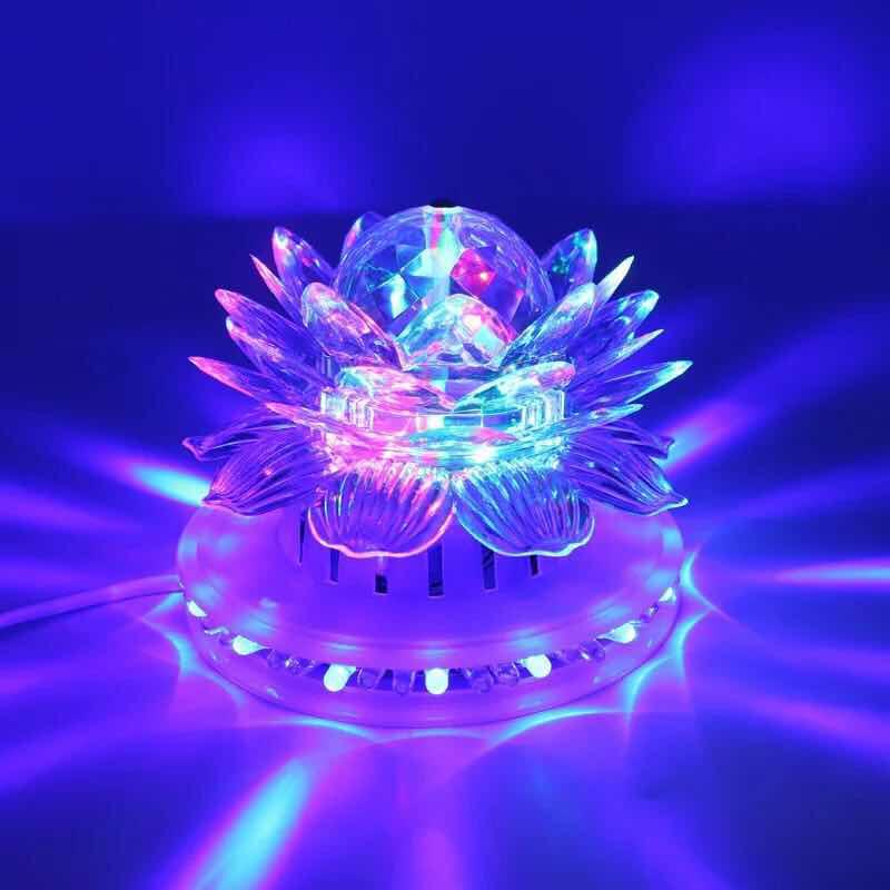 Auto disco giratorio RGB Led Luz de escenario BOLA MÁGICA fiesta iluminación de escenario de Club efecto para Navidad hogar KTV Navidad boda Show Pub