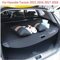 Rear Parcel Shelf Trunk Cover Material Curtain Rear Curtain Retractable Spacer Rear Racks For Hyundai Tucson 2015 2016 2017 2018