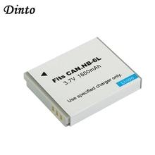 Dinto 1pc 1600mAh batterie numérique NB-6LH NB-6L NB6L Batteries de remplacement pour Canon PowerShot S90 SD770 D10 IXUS 85IS