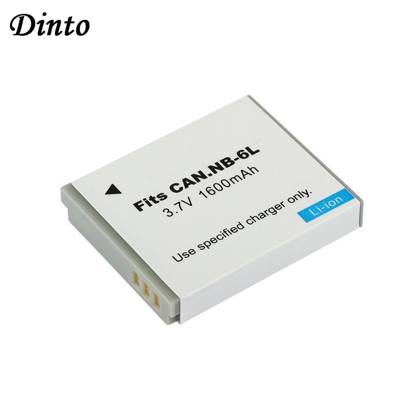 Dinto 1pc Digital 1600mAh Paquete de batería NB-6LH NB-6L NB6L las baterías de repuesto para Canon PowerShot S90 SD770 D10 IXUS 85IS