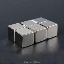 10 pièces cube bloc 15mm * 15mm * 15mm force de traction 8.5KG néodyme fort ndfeb aimants permanents