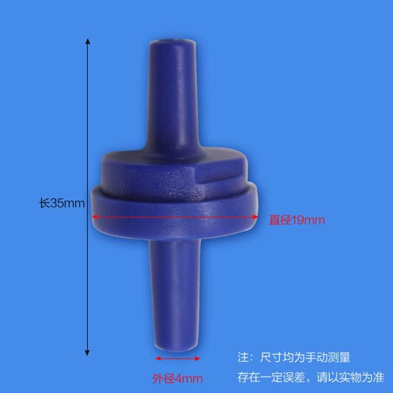 10 Uds acuario azul válvula de retención unidireccional sin retorno tanque de peces Co2 agua aire bomba accesorios evitar reflujo de agua
