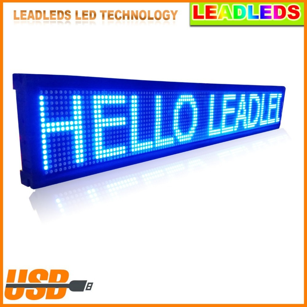 USB Programmable Scrolling Electronic Sign 30