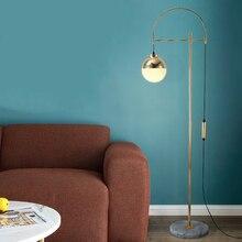 Moderne nordique europe fer lampadaire salon aluminium lampe abat-jour mode LED chambre lampadaire