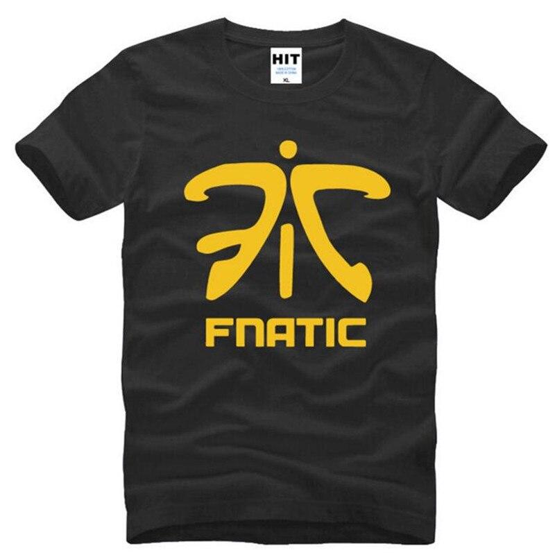 LOL Fnatic Logotipo de equipo camiseta para hombre estampada nueva manga corta de verano cuello redondo de algodón camiseta de los hombres juego divertido uniformes camiseta Homme