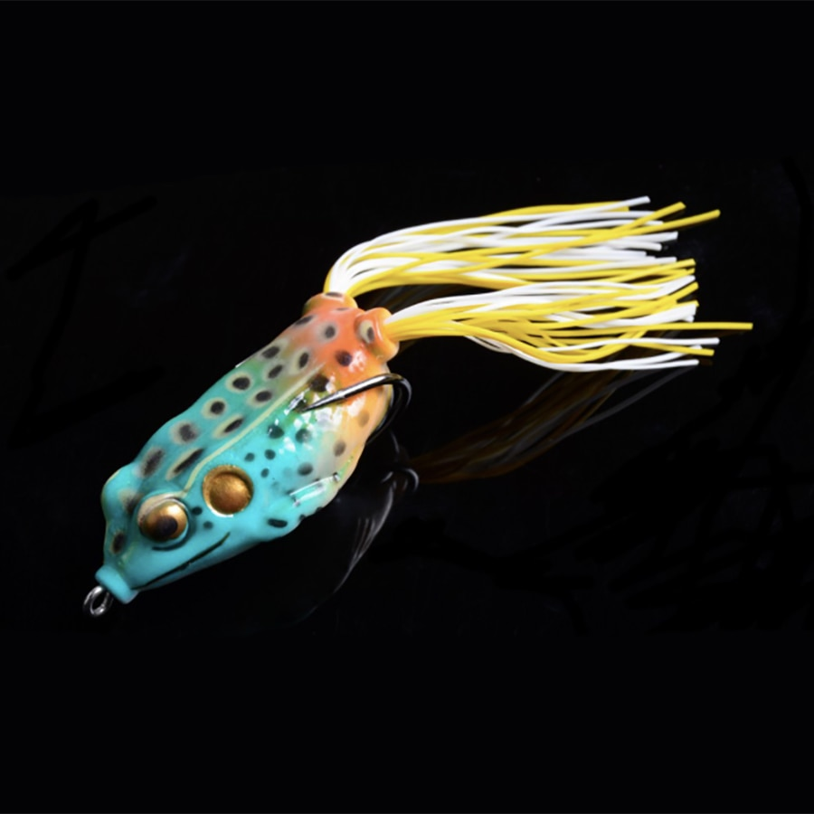 SEAYOU Sapo Popper 5.5 cm 12.5g Sapo Iscas Topwater Iscas Soft Para Snakehead Bass Iscas De Pesca Sapo Flutuante