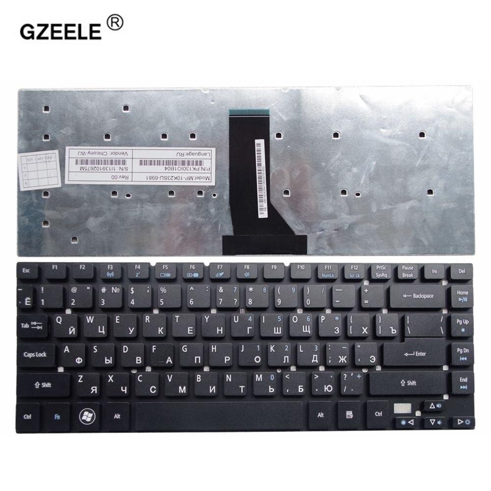 GZEELE ruso teclado del ordenador portátil para Acer para Aspire 3830 de 3830G 3830T 3830TG 4755 de 4830 a 4830G 4830T 4830TG V3-471 NV47H MS2317.