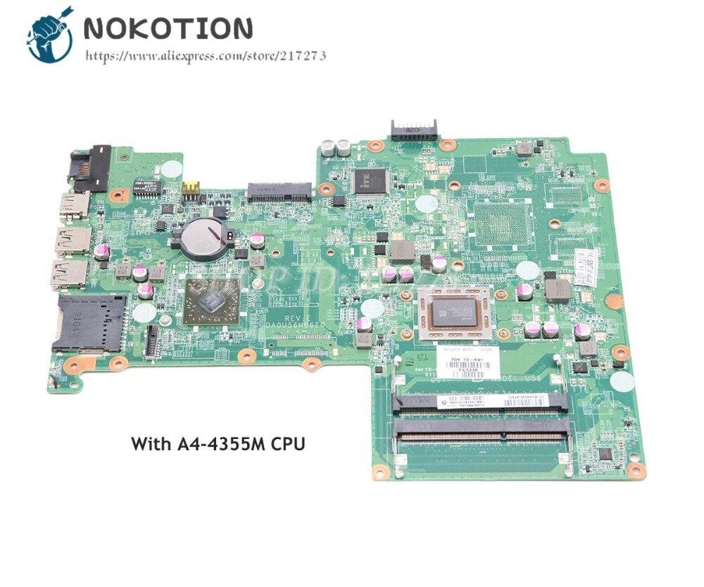 NOKOTION ل HP بافيليون 15 15-B اللوحة المحمول A4-4355M CPU DDR3 709173-501 709173-001 اللوحة الرئيسية اختبار كامل