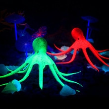Silicone lumineux lumineux scintillant   Poulpe artificiel, Aquarium, décoration sous-marin, ornement sous-marin, décor avec aspiration