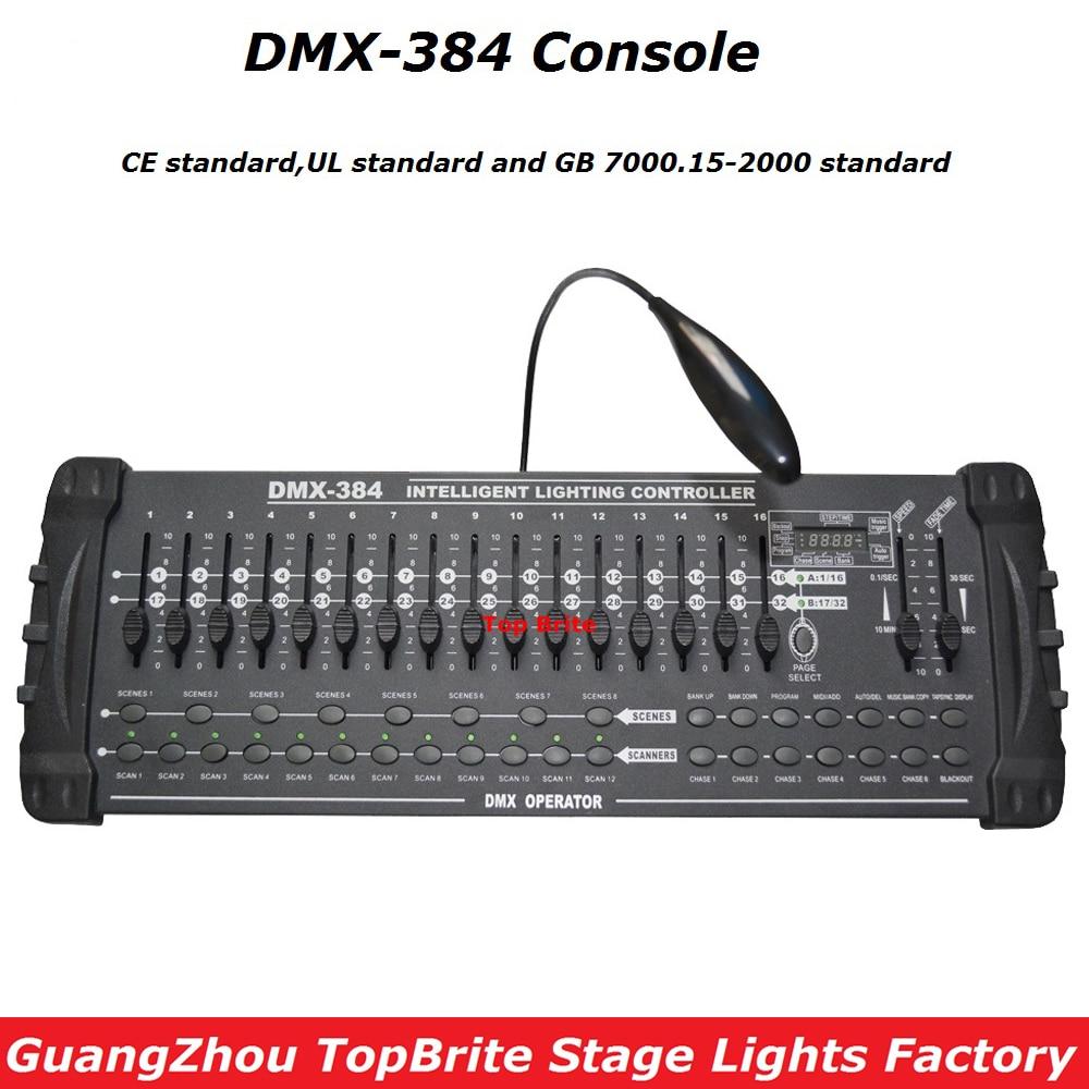 Controlador DMX 384 de alta calidad a precio de fábrica, para iluminación de escenario, consola DMX 512, DJ, Disco, equipos para controladores, Envío Gratis
