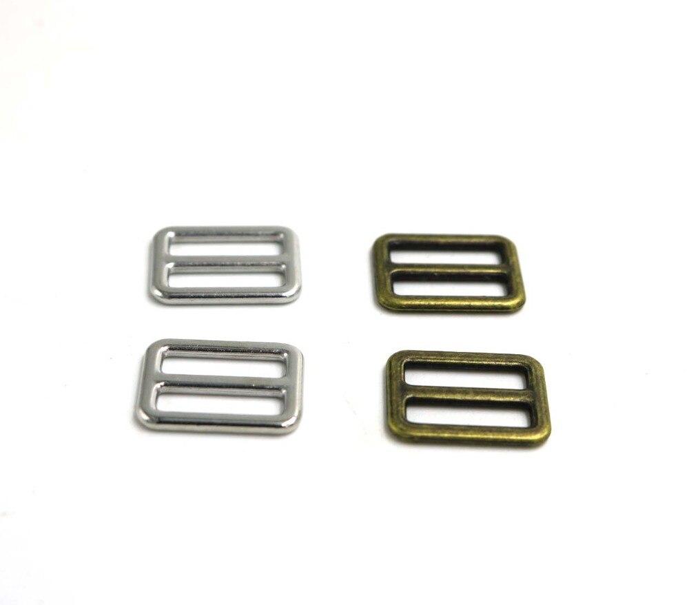 10pcs 10mm/12mm Bag Straps Fitting Buckle silver/bronze Adjust Slider Loop DIY Sewing Craft Belts small buckle