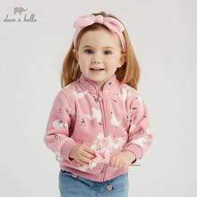 DB396-H dave bella spring baby lovely jacket children fashion outerwear kids cute coat