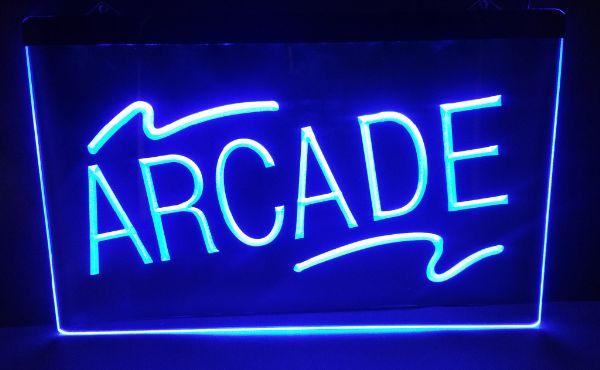 ARCADE 2 tamaño bar de cerveza pub club signo de LED neón al por mayor y al por menor